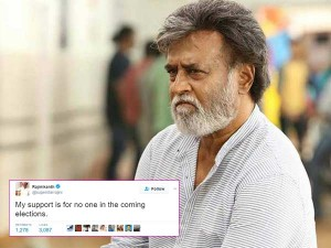 My Support Is No One Says Rajinikanth