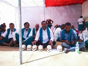 Tn Farmers Stage Protest 9th Day