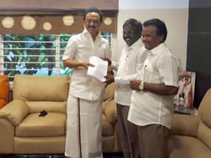 Pmk Advocate Balu Meets M K Stalin