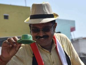 In Rk Nagar Constituency Ttv Dinakara Team Member Santhanam