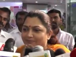 Actress Kushboo Condemns Admk Bjp