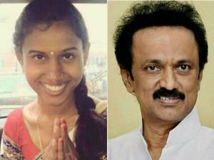 Mk Stalin Wishes Transgender Pritika Yashini Who Gets Si Post
