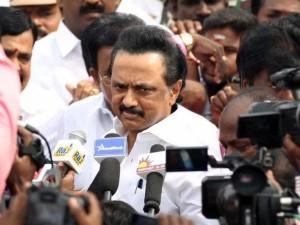 M K Stalin Arrested Police Tiruvarur