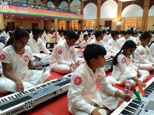 Children Gather Together The Largest Keyboard Concert