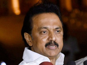 Mk Stalin Accuses Tn Government That It Is Not Sorting Water Crisis