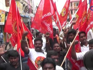 Naam Thamizhar Protest Against Ban On Beef Sale