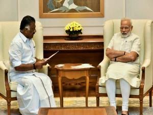 Ops Meets Prime Minister Modi Delhi
