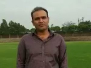 Sehwag Blames Wife Missing Sachin S Movie Premiere With Hilarious Tweet