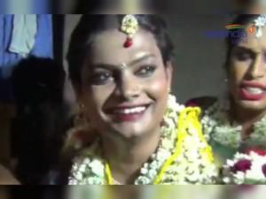Transgenders Celebrating Koovagam Festival Viluppuram