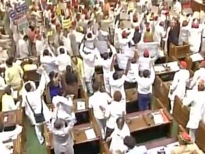 Ruckus Marks Yogi Adityanath S First Up Assembly Session