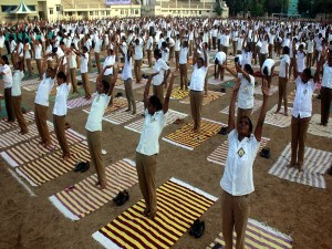 Cops Participated A Yoga Programme Conducted The Chen