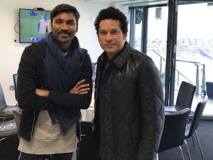 Dhanush Meets The God Cricket Sachin