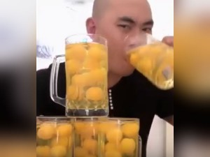 Man Gulps 50 Raw Eggs Less Than 20 Seconds Goes Viral