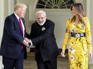 Trump S Wife Melania Wore Dress Worth 2 160 Greet Pm Narendra Modi