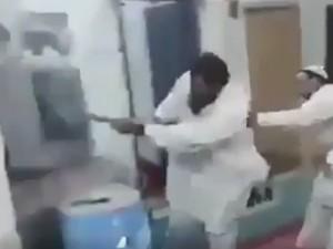Pakistanis Break Their Tv