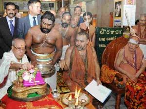 Pranabh Mukherjee Visits Kanchipuram