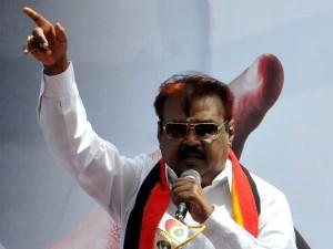 Vijayakanth Warning Tamilnadu Governmnet