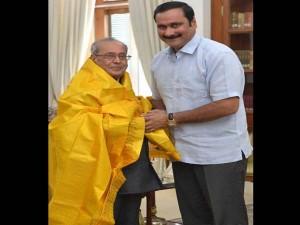 Anbumani Ramados Met President India Shri Pranab Mukherjee