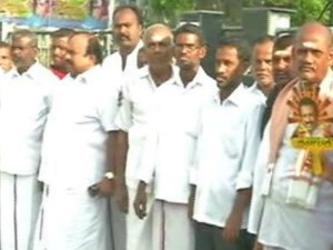 Neet Dmk Stage Human Chain Protest On July