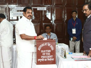 Presidential Election Chief Minister Edappadi Palanisami Voted As First