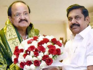 Cm Edapadi Palanisamy Supports Venkaiah Naidu