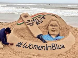 Sand Artist Sudarsan Pattnaik Conveys Wishes Indian Cricket