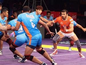 Telugu Titans Begin Pro Kabaddi Season 5 32 27 Win Over Tamil