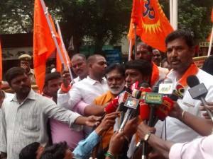 Hindu Munnani Protest Front Actor Kamal Haasan House