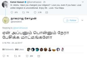 Netizens Troll Kamalhassan As He Writes His Daughter Akshara