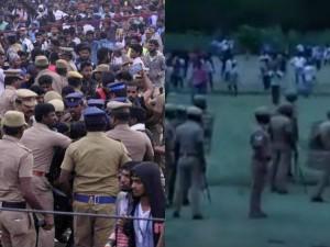 Police Using Its Utmost Power From Marina Kathiramanglam