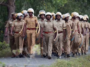 Tn Police Persons Ready Protest At Marina Beach