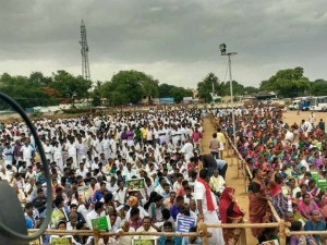 Aranthangi Govt College Students Protest Supporting Neduvasal And Kathiramangalam Villagers
