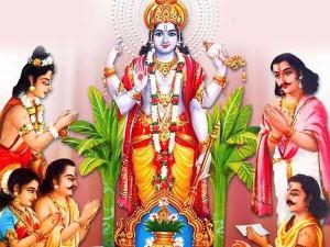 Satyanarayan Puja Is Performed Seek Blessing God Vishnu