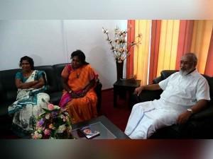 Tamilisai Soundararajan Meet Northern Province Cm Vigneshwaran