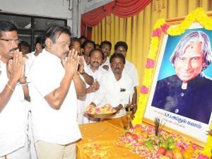 Vijayakanth Paid Tribute Abdul Kalam