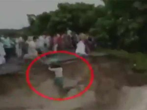 Bihar Floods Bridge Collapse Caught On Camera