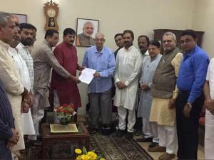 Gujarat Congress Submits Memorandam Governor The Neet Issue