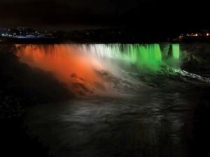 Indian Flag Tricolor Niagara Falls Illumination