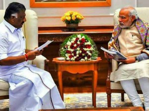 O Paneerselvam Met Prime Minister Modi At Delhi After 3 Denial