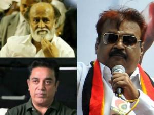 Is Vijayakanth Feared About Rajinikanth Kamalhaasan Political