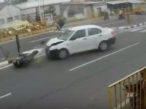 Cctv Footage Road Accident Goes Viral