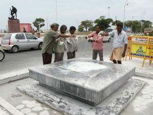 Sivaji Fans Perform Milk Abhishekam