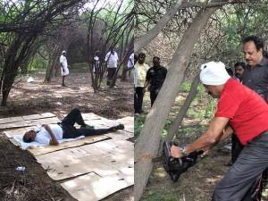 Mdmk General Secratary Vaiko Cuts Seemai Karuvala Trees Near Chennai