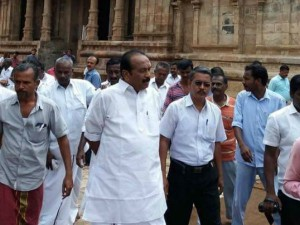 Vaiko Visited Darasuram Airavatesvara Temple