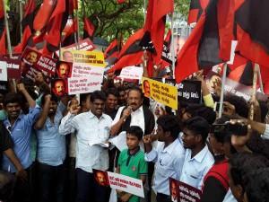 Mdmk Protest Against Neet Exam Chennai