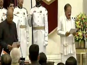 Venkaiah Naidu Taking Oath As Vice President India
