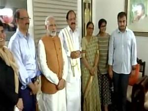 Prime Minister Modi Greets Venkaiah Naidu The Victory Vice