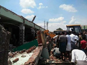 Ias Officer Gagandeep Singh Visited Collapsed Bus Stand Building Somanur