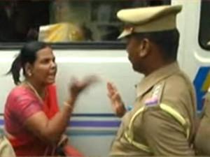Tamil Nadu Govt Staff Stage Protest Arrested