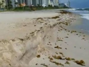 Hurricane Irma Miami Beach Showing 3ft Drop